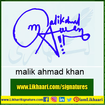 malik ahmad Awan Signature Styles