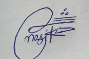 Signature Ideas for Nasir Khan