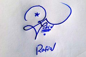 Rafiq Name Online Signature Styles