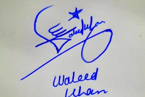 Waleed Khan Name Online Signature Styles