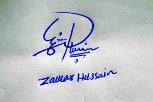 Zawar Hussain Name Online Signature Styles