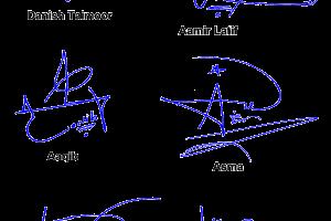 Name Handwritten Signature